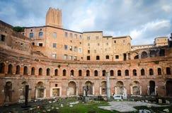 Trajans marknad (Mercato di Traiano) Arkivfoto
