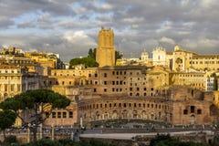 Trajans Markt Rom Stockfotografie