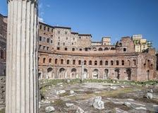Trajans Markt in Rom Stockfoto