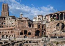 Trajans Markt in Rom Stockfotografie