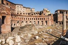 Trajans Markt in Rom Stockbilder