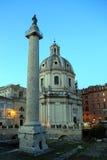 Trajanskolom, Rome, Italië Stock Fotografie