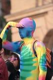 Traje alegre del arco iris Fotos de archivo libres de regalías