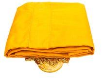 Traje amarillo aislado Imagen de archivo libre de regalías