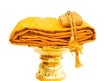 Traje amarillo aislado Foto de archivo libre de regalías