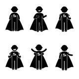 Traje básico da roupa do sinal do ícone dos povos da postura do homem Fotografia de Stock