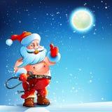 Traje BDSM Mordaza Santa Claus ilustración del vector