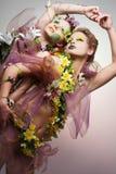 Traje da flor. Fotografia de Stock Royalty Free