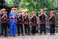 Traje da nacionalidade de Li, província de Hainan, China Imagem de Stock