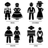 Traje da roupa de Ámérica do Sul Imagens de Stock