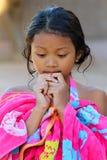 Traje de baño asiático de la muchacha Imágenes de archivo libres de regalías