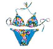 Traje de baño de moda colorido aislante Foto de archivo libre de regalías