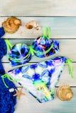 Traje de baño separado brillante del ` s de las mujeres imagen de archivo libre de regalías