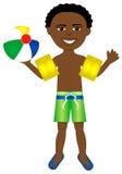 Traje de baño del muchacho del Afro Imagen de archivo