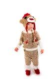 Traje de Dia das Bruxas do macaco da peúga Fotografia de Stock Royalty Free