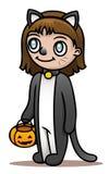 Traje de Halloween del gato ilustración del vector