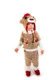 Traje de Halloween del mono del calcetín Fotografía de archivo libre de regalías
