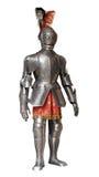 Traje de la armadura del caballero, aislado Imágenes de archivo libres de regalías