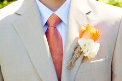 Traje de la boda del novio Foto de archivo