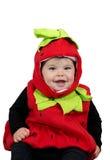 Traje de la fresa del bebé Imagen de archivo libre de regalías