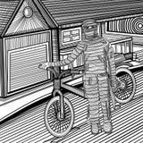 Traje de la momia del individuo que lleva Imágenes de archivo libres de regalías