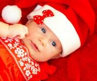 Traje de la Navidad del bebé que lleva recién nacido Fotos de archivo libres de regalías