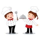 Traje de la profesión del cocinero para los niños ilustración del vector