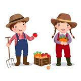 Traje de la profesión del granjero para los niños Fotografía de archivo libre de regalías
