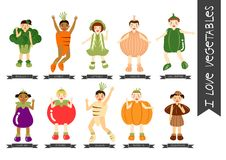 Traje de la verdura de los niños Imagen de archivo libre de regalías