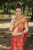 Traje de Laos fotografia de stock royalty free