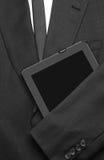 Traje de negocios con la tableta Fotos de archivo