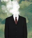 Traje de negocios vacío surrealista, humo Foto de archivo