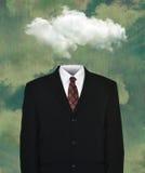 Traje de negocios vacío surrealista, nube Fotografía de archivo