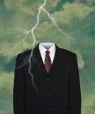 Traje de negocios vacío surrealista, relámpago Imagenes de archivo