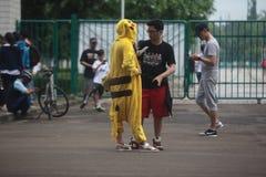 Traje de Pikachu Fotografía de archivo libre de regalías