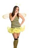 Traje de Víspera de Todos los Santos de la abeja Fotografía de archivo