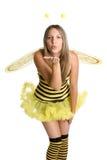 Traje de Víspera de Todos los Santos de la abeja Foto de archivo libre de regalías