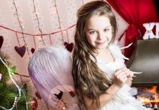 Traje del ángel del día de fiesta Fotografía de archivo