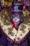 Traje del carnaval de Venecia Foto de archivo libre de regalías