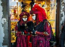 Traje del carnaval de Venecia Imagenes de archivo
