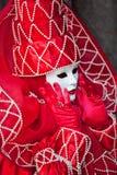 Traje del carnaval de Venecia Fotos de archivo libres de regalías