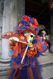 Traje del carnaval en la Venecia Italia Fotografía de archivo