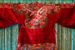 Traje del damasco en estilo tradicional chino imagen de archivo libre de regalías