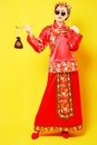 Traje del estilo chino de la moda Imágenes de archivo libres de regalías