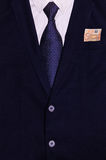 Traje del hombre de negocios con el dinero en el bolsillo Imagen de archivo libre de regalías