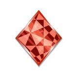Traje del icono de los diamantes Foto de archivo
