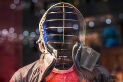 Traje del invierno en la exhibición en ventana de tienda fotografía de archivo libre de regalías
