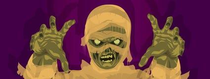 Traje del monstruo de la momia de Halloween de la momia ilustración del vector
