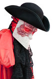 Traje do carnaval de Itália Veneza de um Venetian nobre antigo Imagem de Stock Royalty Free