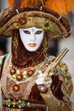 Traje do carnaval de Veneza Fotos de Stock